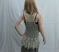 Organic Cotton Crochet Vest